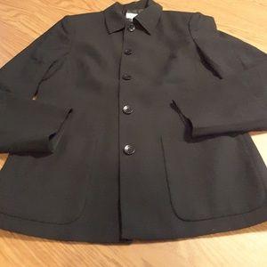 Talbots petites black 100% wool blazer size 2
